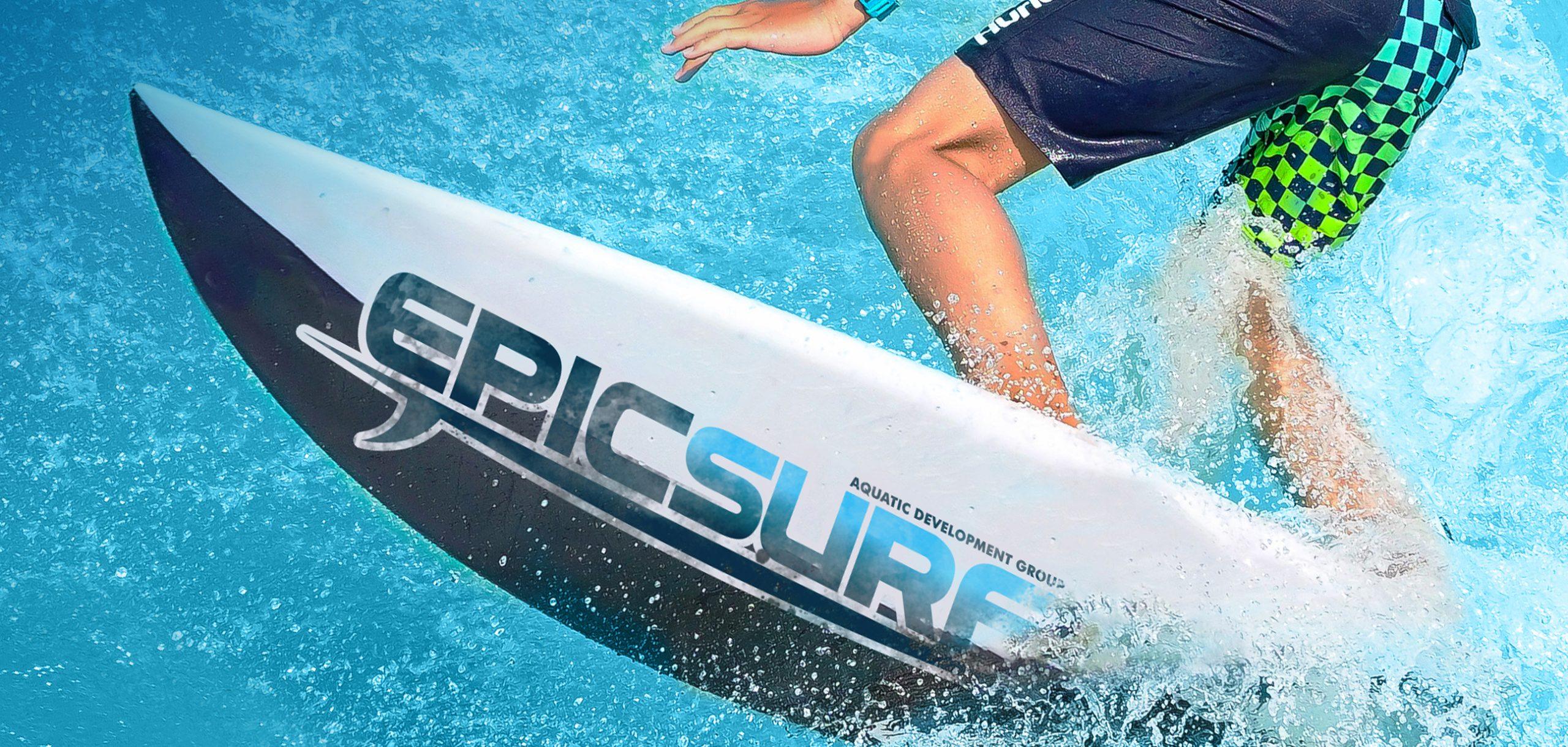 up close shot of kid surfing on epicsurf surf board